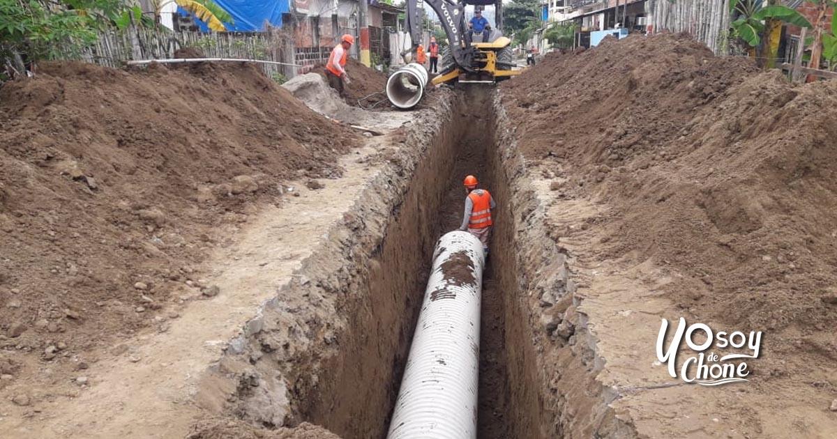 Iniciaron los trabajos de alcantarillado pluvial en tres sectores de Chone