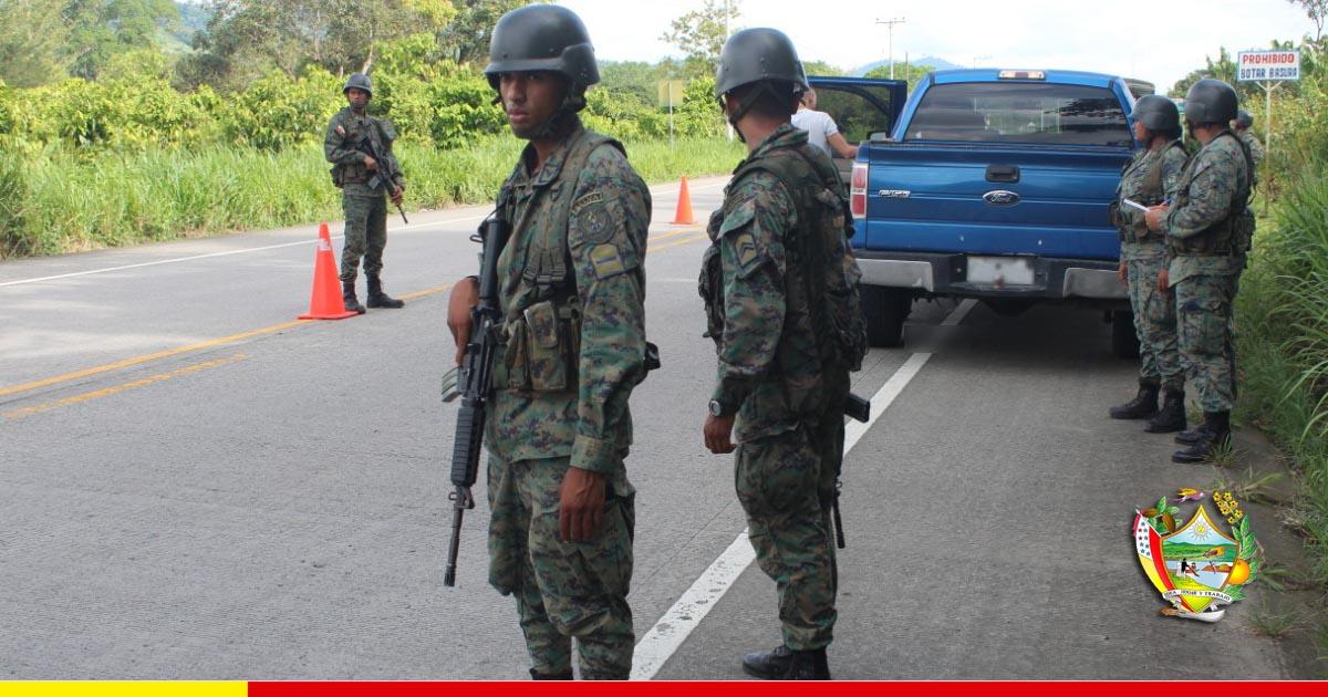Chone recibe aporte militar para garantizar la seguridad ciudadana