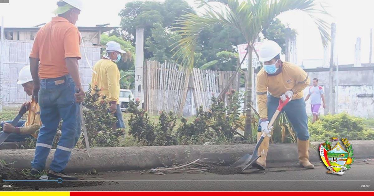 Limpieza en avenida genera buena impresión al ingreso de la ciudad