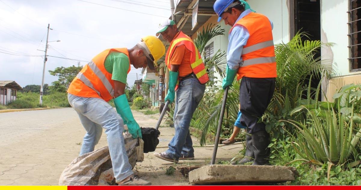 Limpieza de red sanitaria beneficia a más de 800 familias en la 30 de Marzo y pasa a zona rural