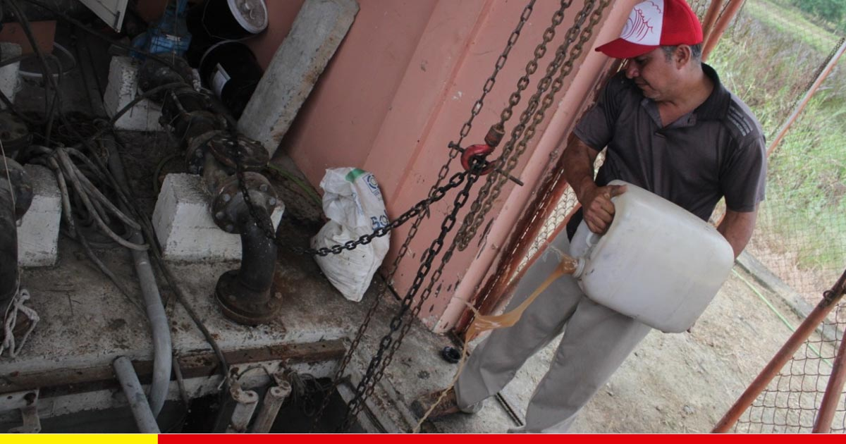 Bomba fue reparada en Canuto y se restablece evacuación de aguas negras