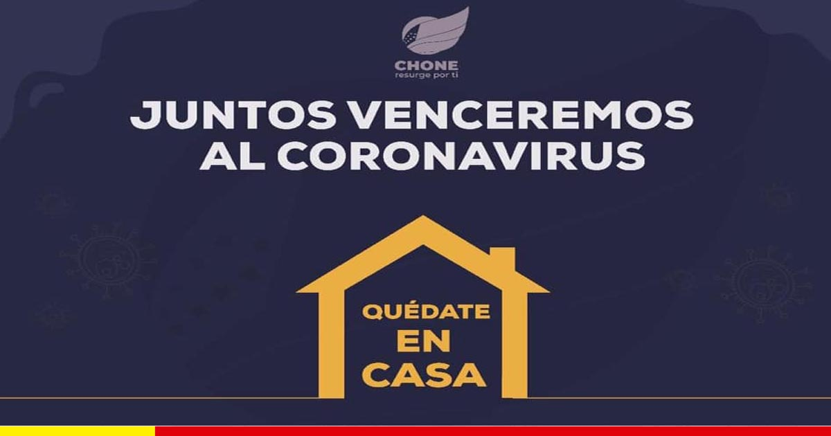 Chone emprende ayuda humanitaria para combatir al coronavirus