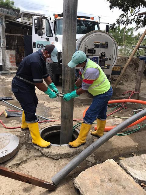 Estaciones de bombeo son limpiadas y reciben mantenimiento preventivo