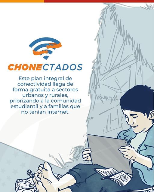 Chone se conecta con el mundo