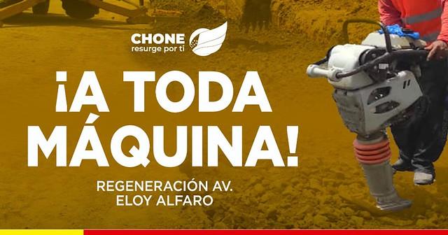 La regeneración de la Av. Eloy Alfaro está en marcha