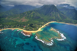 Tunnels Beach from Above