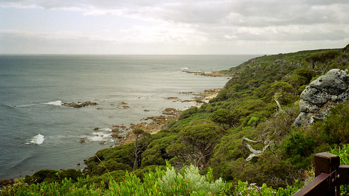 September 1994 - Coast view from the Whale Watching Platform, Cape Naturaliste, Western Australia