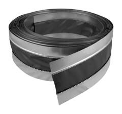 Connector Plus Flexible Duct Connector (Black - Flat)