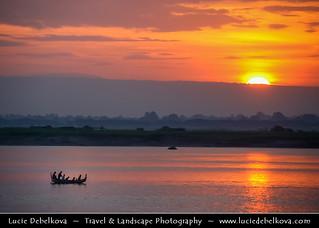 Myanmar - Mandalay - Ayeyarwady (Irrawaddy) River at Sunset