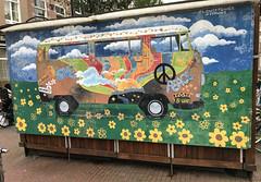 Flower Power B-One Mural in Amersterdam