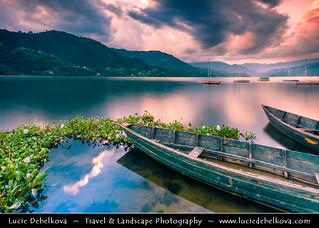 Nepal - Pokhara - Lake Phewa at Sunset