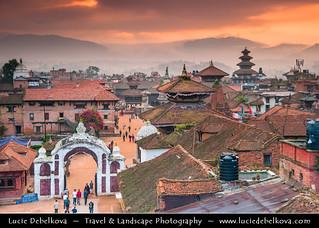 Nepal - Sunrise over Bhaktapur Durbar Square