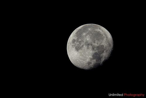 Waning gibbous moon [Explored]
