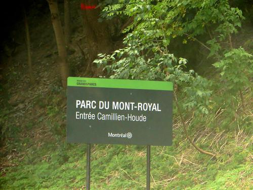 Entering Parc du Mont-Royal, Montréal, Québec