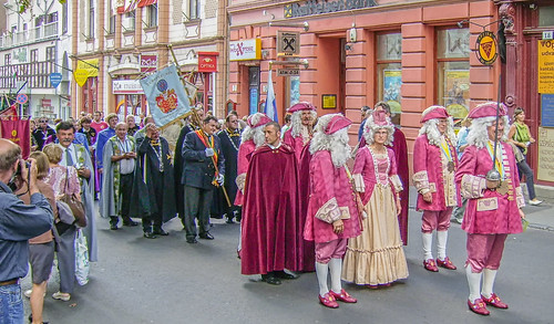 Procession for the Pécs Wine Song Festival