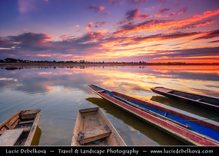Laos - Vientiane - Sunset over magectic Mekong river