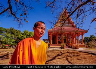 Laos - Guardian of Wat Somevank in Vientiane