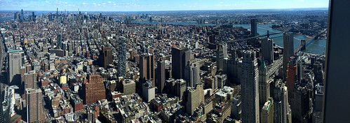 Manhattan, New York, New York from One World Observatory