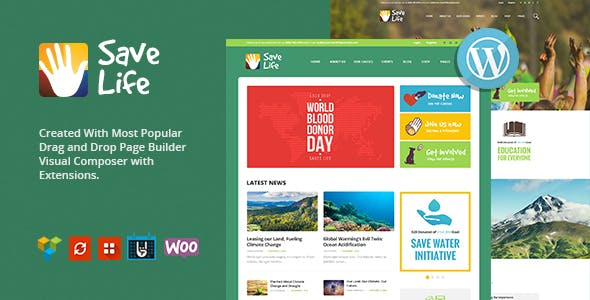 Save Life v1.2 – Non-Profit, Charity & Donations WordPress Theme