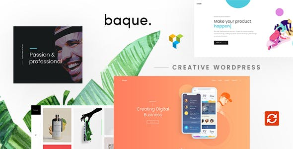Baque v1.0.4 – Multipurpose Onepage Creative WP Theme