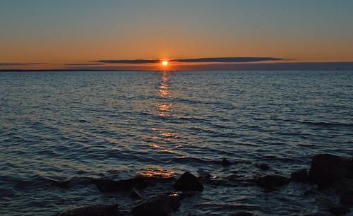 Evening on the sea beach