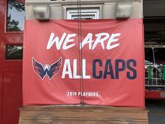 We Are ALL CAPS: hockey fan sign, D.C. Engine Company 28, Washington, D.C.
