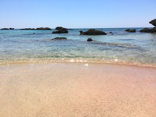 Blue Water and Pink Beach...