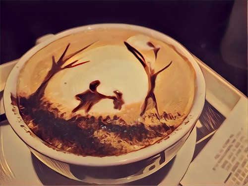 When your Barrista decides to decorate your foam.
