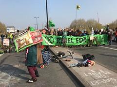 Extinction Rebellion protest on Waterloo Bridge
