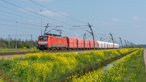 Valburg Betuwe Route DBC 189 028 met Kalktrein naar Beverwijk