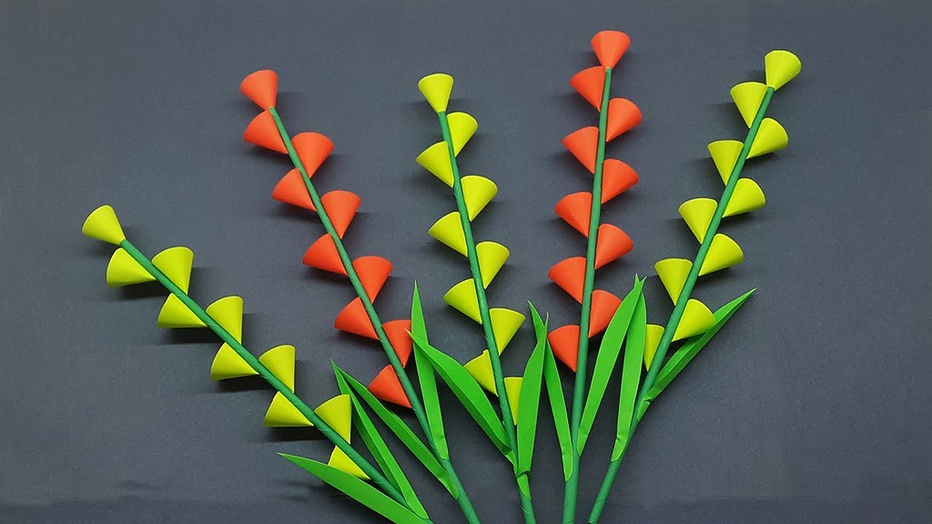 Diy Paper Stick Flower How To Make Beautiful Flowers Step By Step