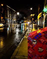 Rainy night on Rue Notre-Dame 1  (Montreal)