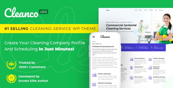 Cleanco v3.0 – Cleaning Service Company WordPress Theme