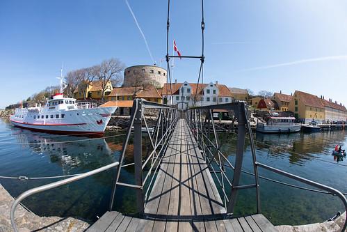 Die Brücke zwischen Christiansø und Frederiksø