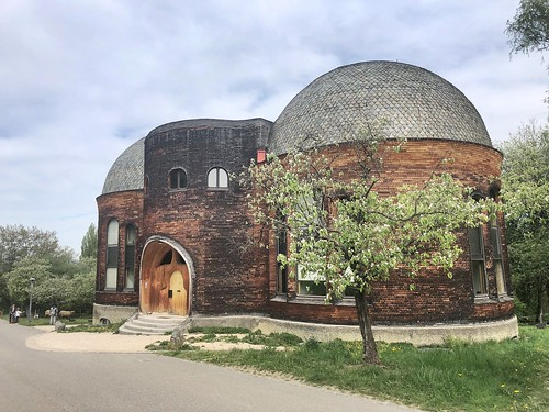 Rudolf Steiner... These two buildings, built in Dornach, Switzerland, were intended to house significant theater spaces as well as a