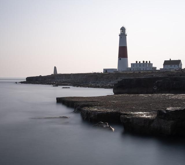Portland Bill Lighthouse - monochrome