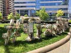 Litter Letters: Trash Free DC display, Edward R. Murrow Park, Washington, D.C.