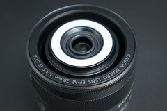 Canon EF-M 28mm f/3.5 Macro IS STM close-up product shot
