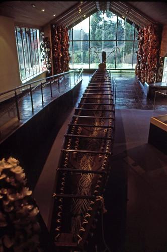 Maori war canoe,  Hamilton Museum,  1992