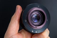 Rear view of a Carl Zeiss Jena Tessar 50mm F2.8