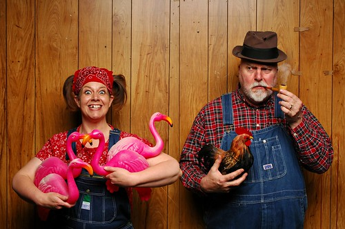 Herb thought Thelma Lou's pink chickens were decidedly suspicious