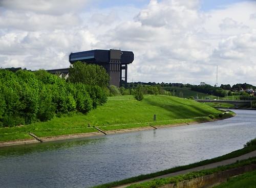 L'ascenseur à bateaux de Strépy-Thieu
