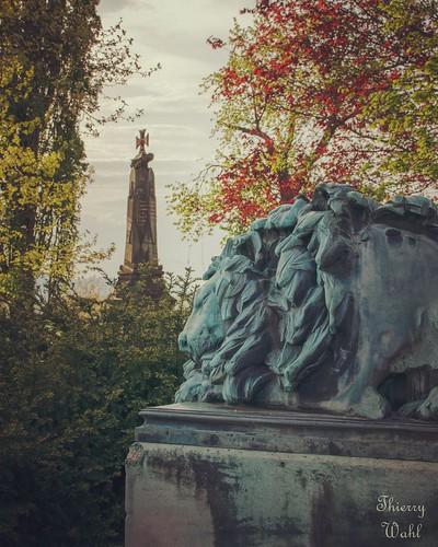Monument allemand en souvenir de la bataille de Wissembourg le 4 août 1870 sur le sommet du Geisberg.