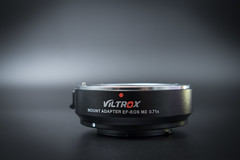 Side view of a VILTROX EF-EOS M2 Lens Adapter 0.71x Speed Booster