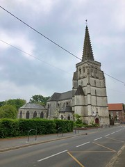 Kirche Saint-Vaast in Estree-Blanche, Frankreich - Photo of Enguinegatte