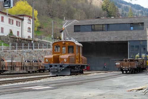 Changed railway infrastructure Poschiavo: Maintenance Building (2/4)
