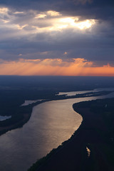 Sunset Layers over Tennessee River - April 2017