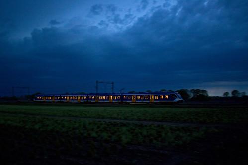 NS SNG - trein 8169 Zwolle - Groningen  - Wijster