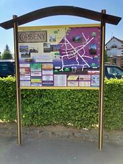 Infoboard von Corbeny, Frankreich