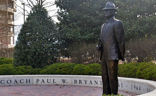 Statue of University of Alabama Football Coach Paul Bryant -- Tuscaloosa (AL) February 2019